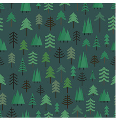 different trees seamless pattern background vector image