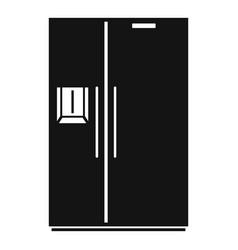 Double door fridge icon simple style vector
