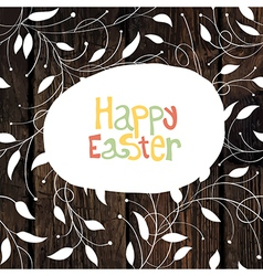 easter card with leaf pattern vector image