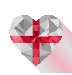 english heart the flag of england vector image