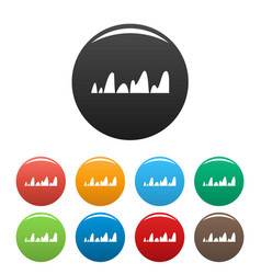 equalizer tune radio icons set color vector image