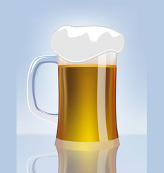 Excellent glass of beer vector