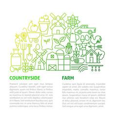farm line template vector image
