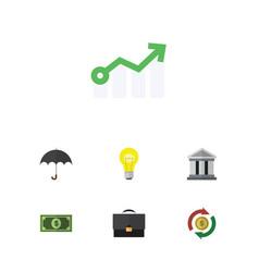 Flat icon gain set interchange parasol vector