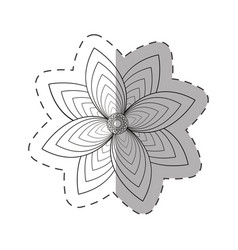flower garden decoration cut line vector image