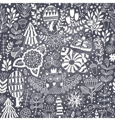 Forest design floral seamless pattern vector