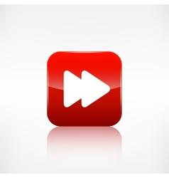 Forward or skip icon Media player vector