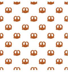 Fresh pretzel pattern seamless vector