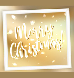 golden shining merry christmas abstract background vector image