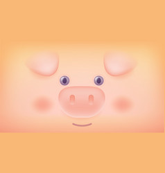 gradient style design of cute pig symbol of the vector image