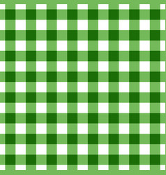 Green tablecloth pattern design vector