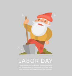 happy labor day american national holiday poster vector image