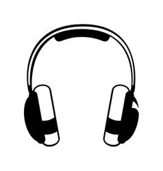 Headphones pictogram icon image vector