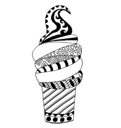 High quality ice cream for coloring with many vector