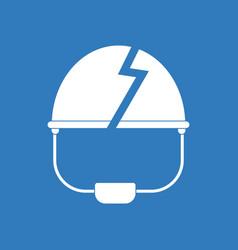 Icon broken military helmet vector