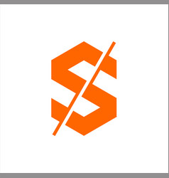 Initials letter s logo abstract vector