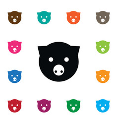 Isolated pig icon piggy element can b vector