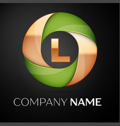 Letter l logo symbol in the colorful triangle on vector