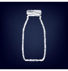 Milk bottle sign Flat style icon vector image