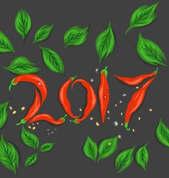 New year red chilli vector