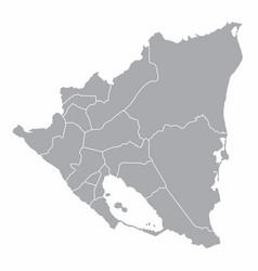nicaragua regions map vector image