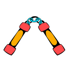 nunchaku weapon icon icon cartoon vector image