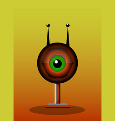 one-eyed creature vector image