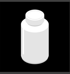 plastic jar for tablets isolated container for vector image