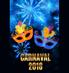 Popular event brazil carnival in south america vector