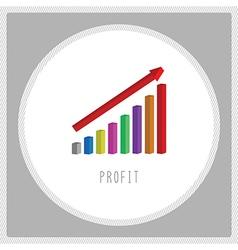 Profit chart6 vector image