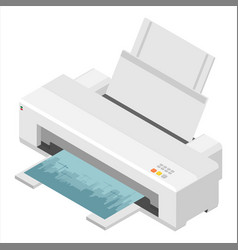 realistic printer print high quality photo paper vector image