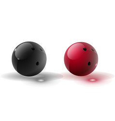 red and multicolor bowling ball isolated on vector image