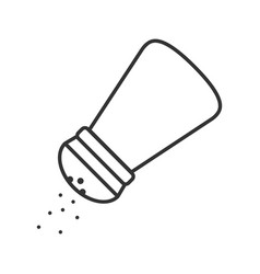 Salt or pepper shaker linear icon vector