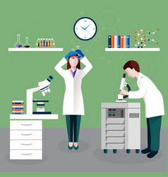 Scientists people and laboratory composition vector