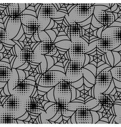 Seamless halloween pattern with spiderweb vector