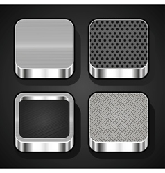 set metal ios icons vector image