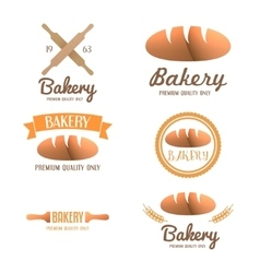 Set of logo badge label emblem and logotype vector image