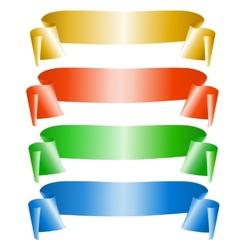 set ribbons vector image