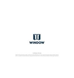 simple minimalist window logo design vector image