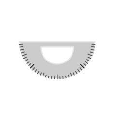 simple protractor ruler vector image
