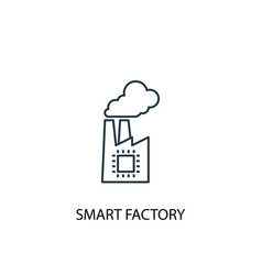 smart factory concept line icon simple element vector image