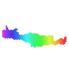 Spectrum hexagon crete island map vector