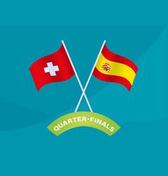 Switzerland vs spain match football 2020 vector