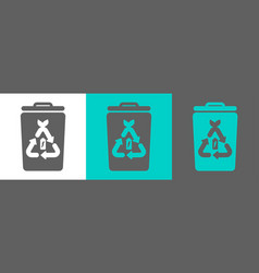 trash bin element with battery icon vector image