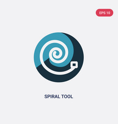Two color spiral tool icon from user interface vector