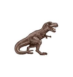 Tyrannosaurus t-rex isolated triceratops dino vector