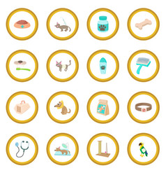 veterinary icon circle vector image