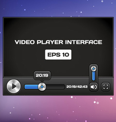 Video Player Interface vector