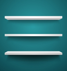 white shelves on wall vector image