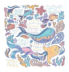Colorful sea vector image